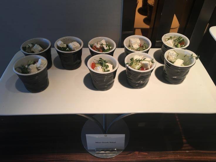 bangkok okura prestige club lounge mini salads