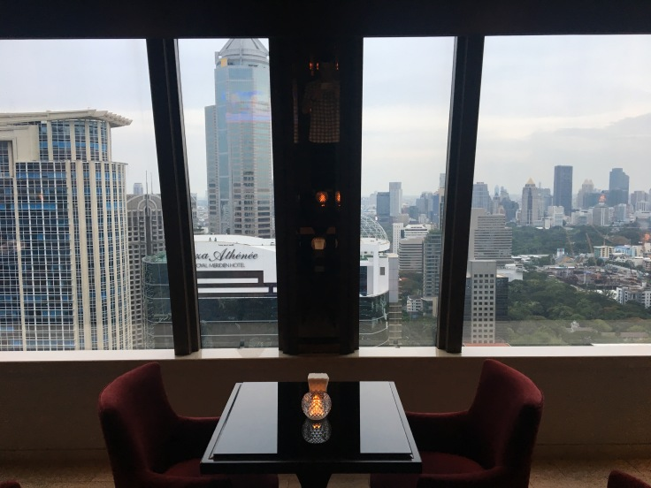 bangkok okura prestige club lounge views