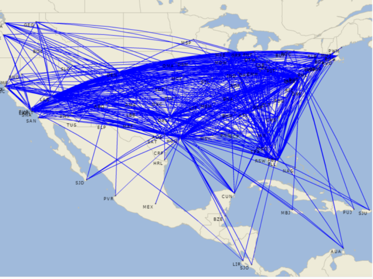 southwest airlines route map.png