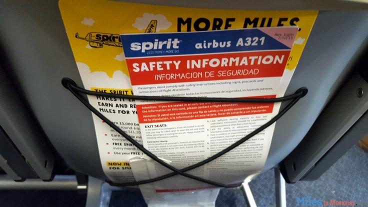 spirit safety card