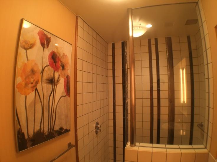 united club tokyo narita shower stall 3