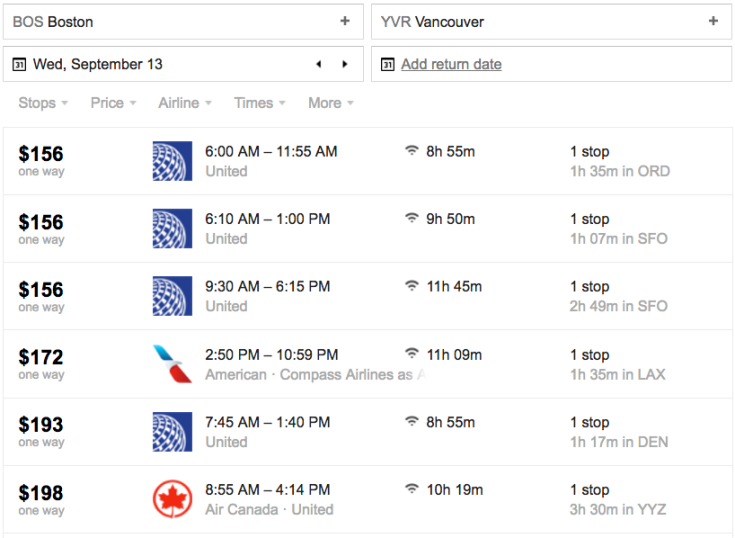 air canada fare differentials