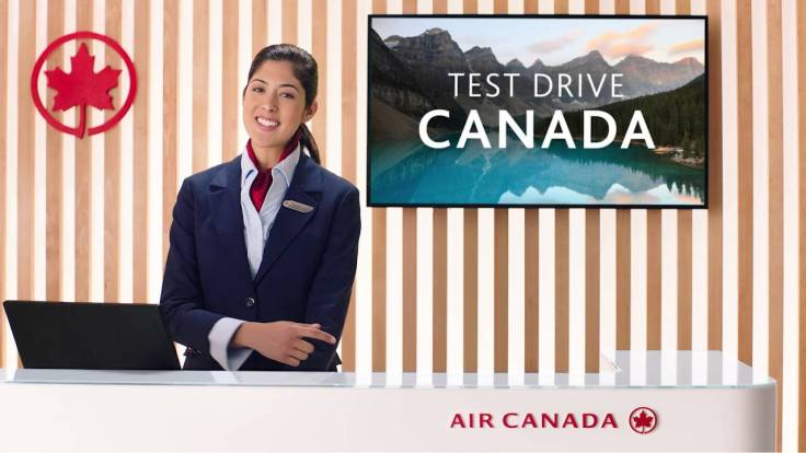 air canada test drive canada promotion