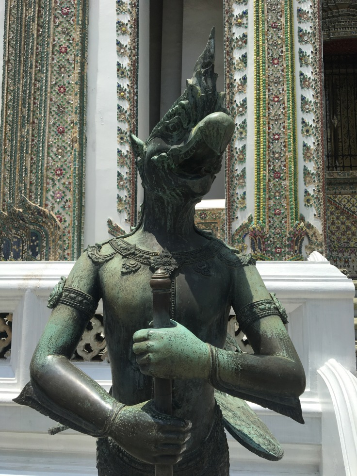 bangkok tour royal palace bronze eagle guard