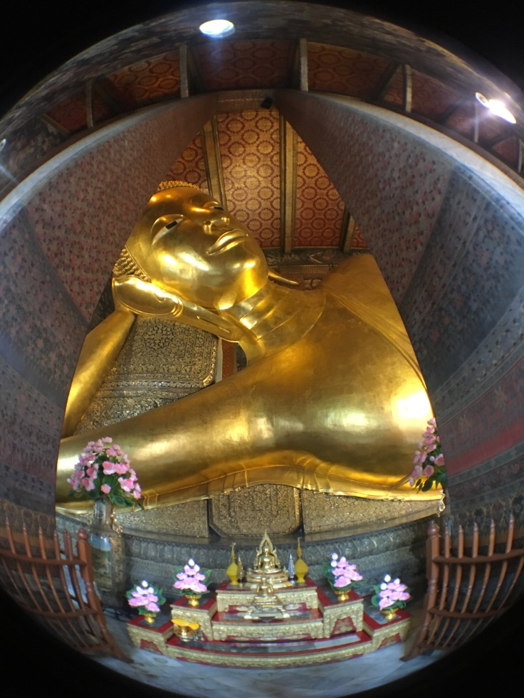 bangkok tour royal palace reclining buddha fisheye