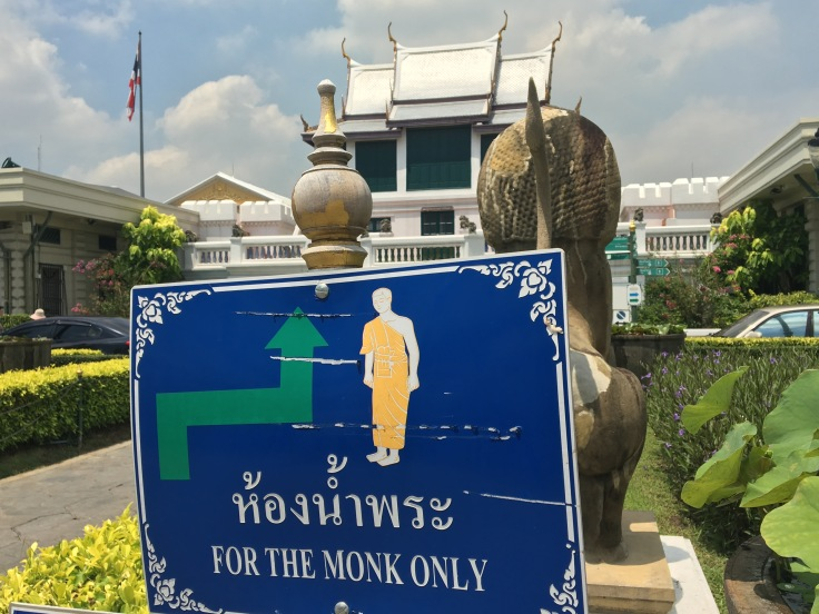 bangkok tour sign monks only