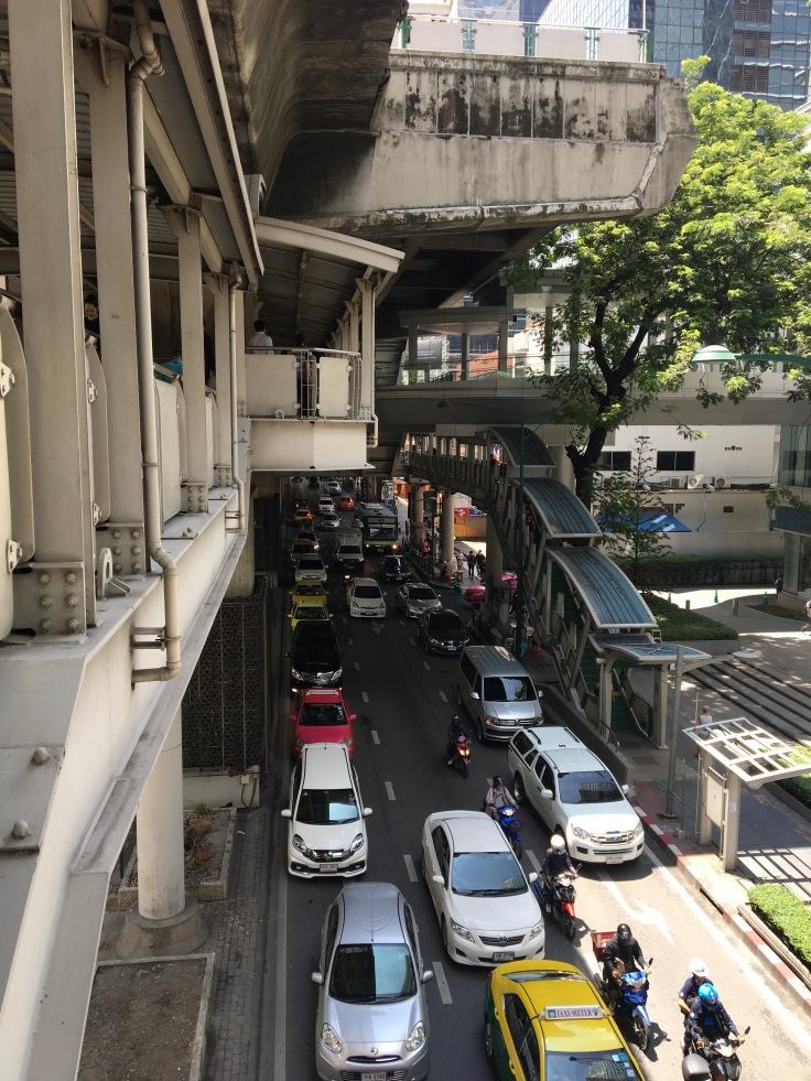 bangkok tour street skytrain