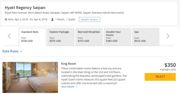 hyatt regency saipan room rate