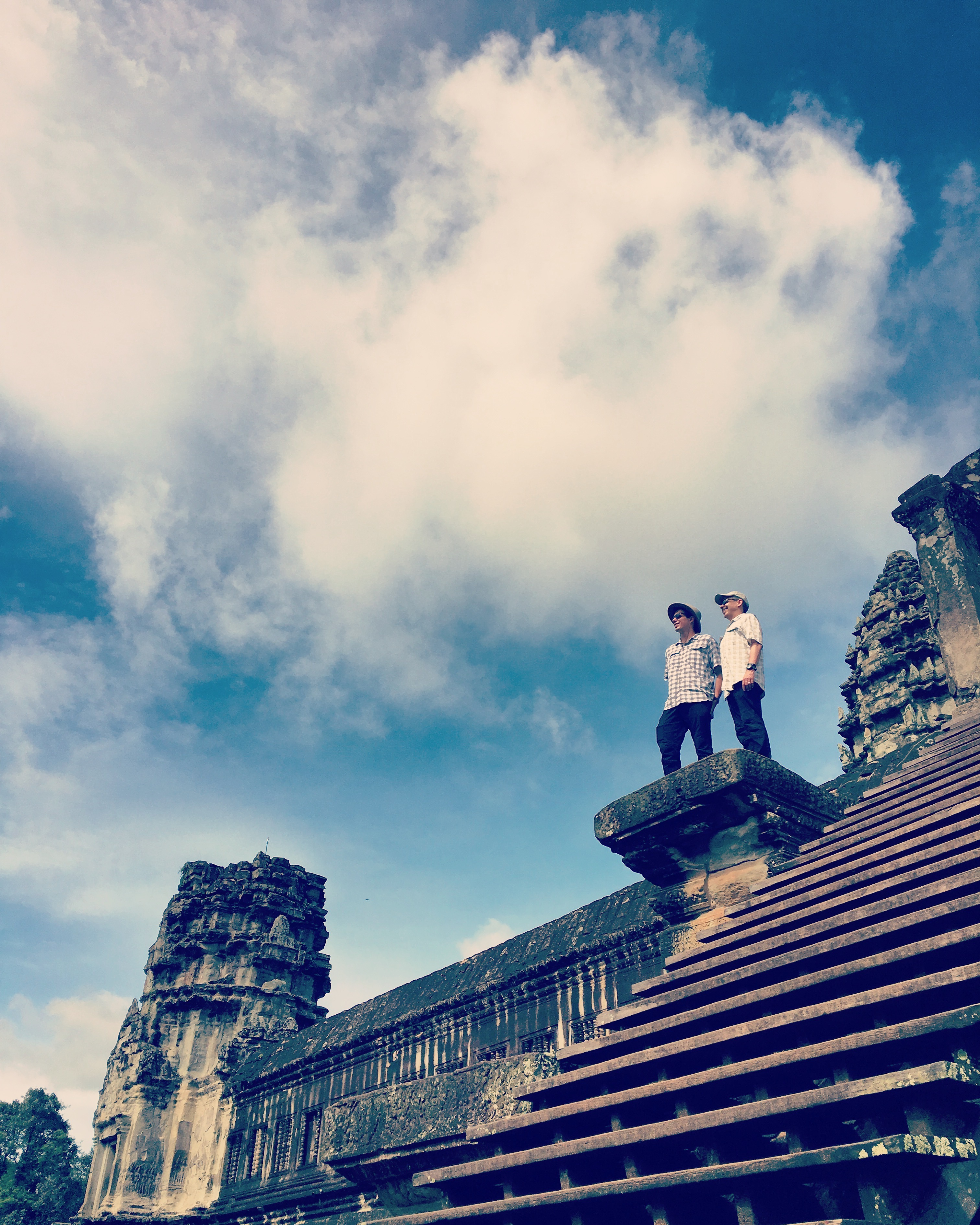 standing at angkor wat IG