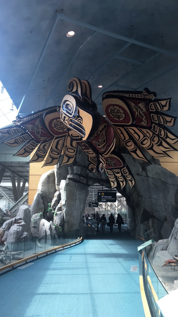 vancouver airport indigenous art eagle.JPG