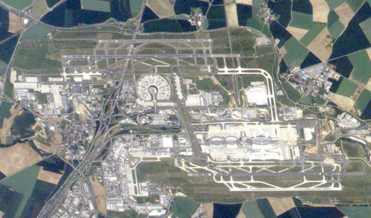 air france charles de gaulle airport from the sky