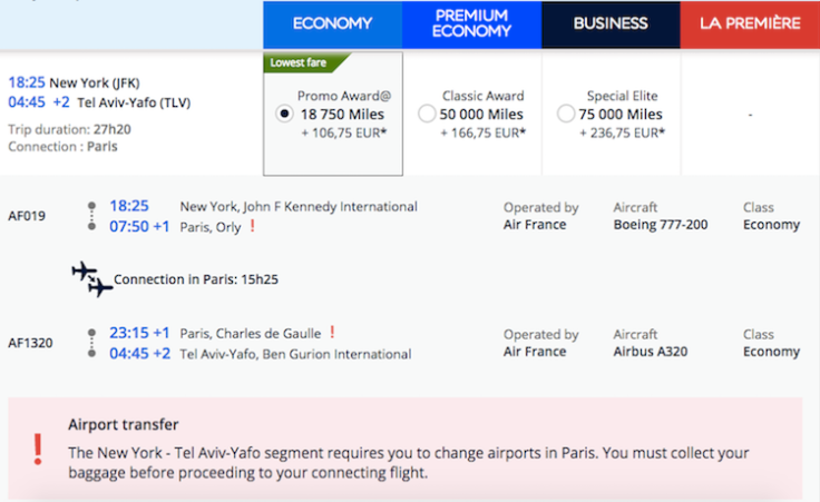 air france klm flyingblue month promo awards in action