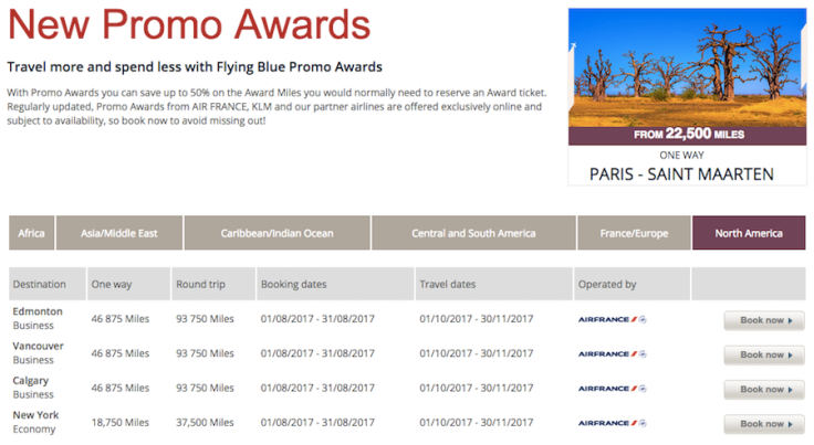 air france klm flyingblue month promo awards