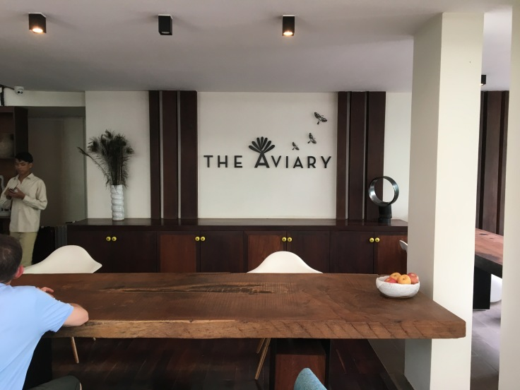aviary hotel lobby reception