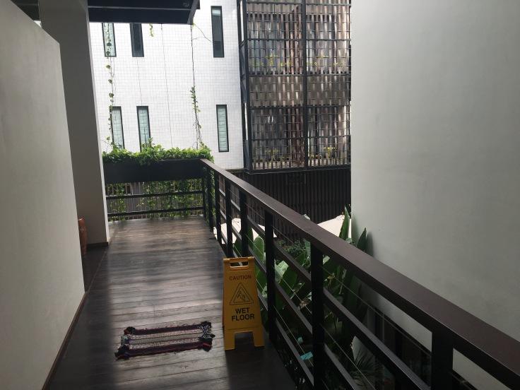 aviary hotel property hallway