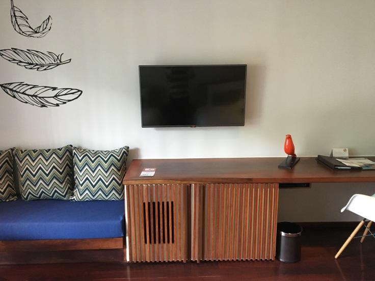 aviary hotel room television