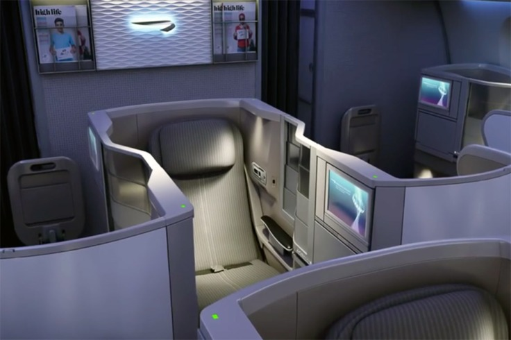 british aiways business class design