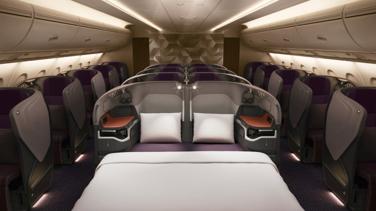 new singapore business class double bed