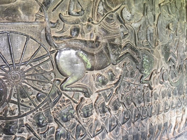 siem reap angkor wat stone carving epic war scene