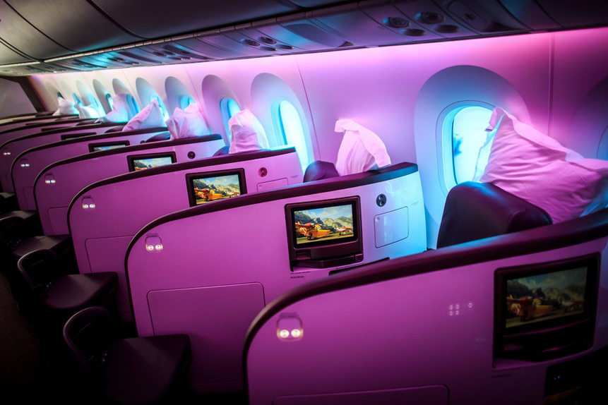 virgin atlantic upper class stock image.jpg