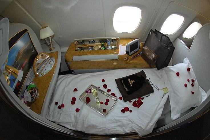 emirates first class bed rose petals