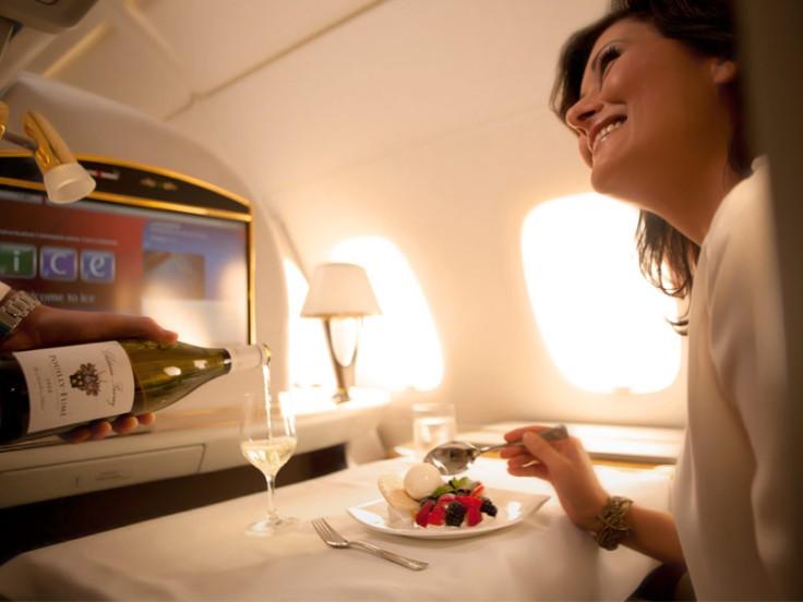 emirates first class meal dessert