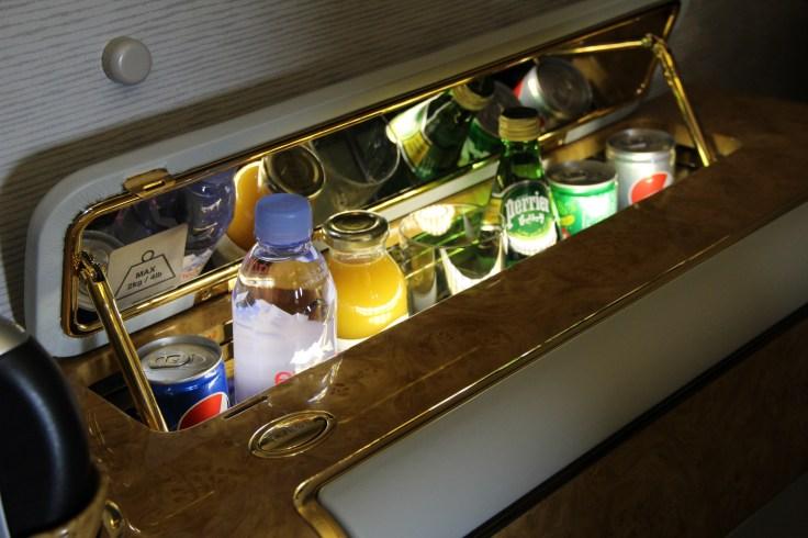 emirates first class minibar