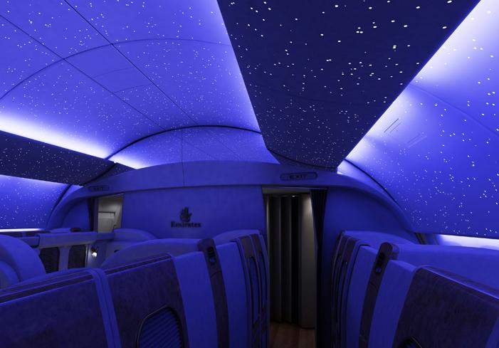 emirates first class mood lighting stars
