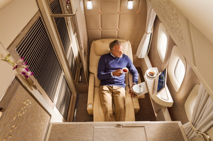 new emirates first class suite fully enclosed