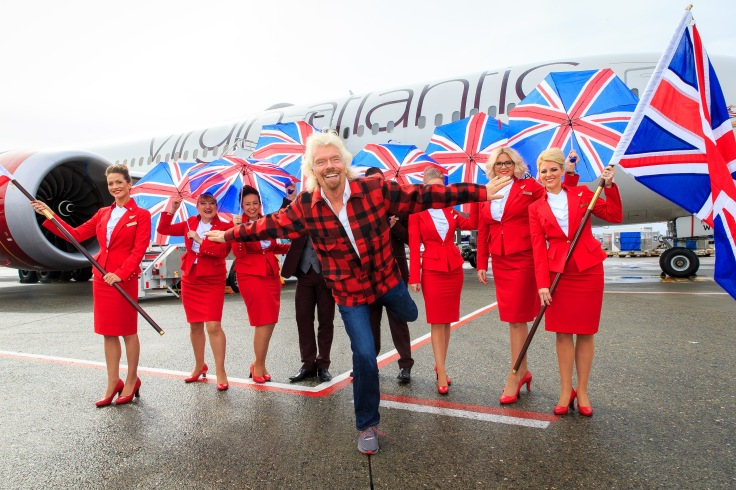 Virgin Atlantic inaugural flight from London Heathrow to Seattle, America - 27 Mar 2017