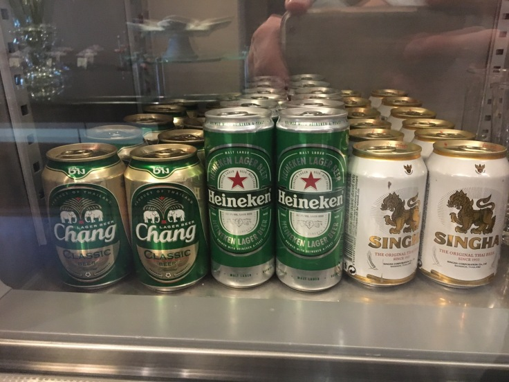 thai royal first lounge spread beer
