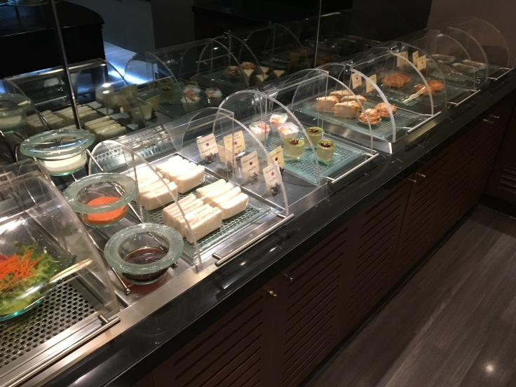 thai royal first lounge spread deli options