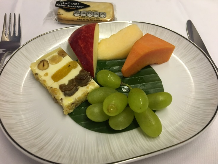 thai royal silk service cheese and fruit