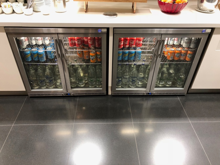 lhr arrivals lounge dining beverage fridge