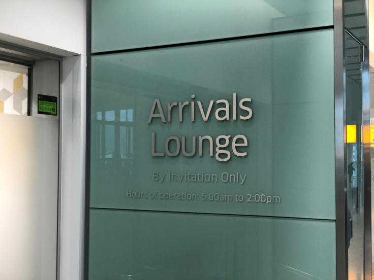 lhr arrivals lounge exterior welcome sign