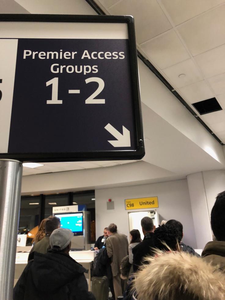 united airlines polaris business diamond boarding premier