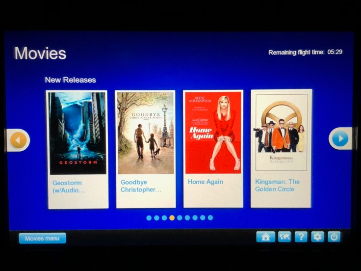 united airlines polaris business diamond entertainment movie selection list
