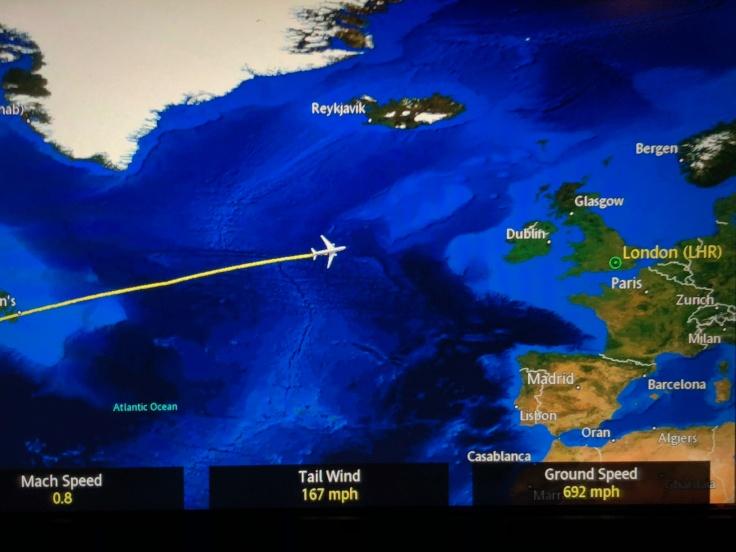 united airlines polaris business diamond entertainment moving map post sleep