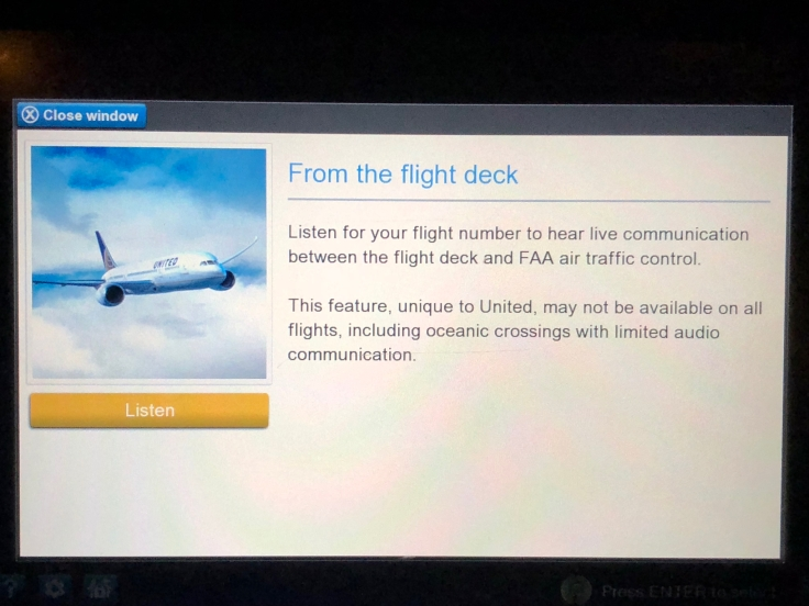 united airlines polaris business diamond entertainment special audio