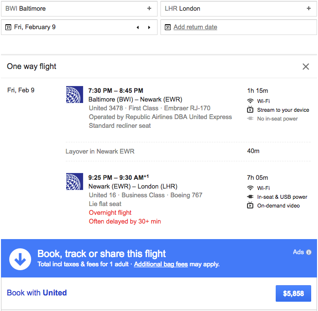 united airlines polaris business diamond google flights airfare
