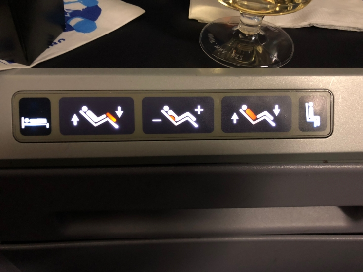 united airlines polaris business diamond hard seat controls
