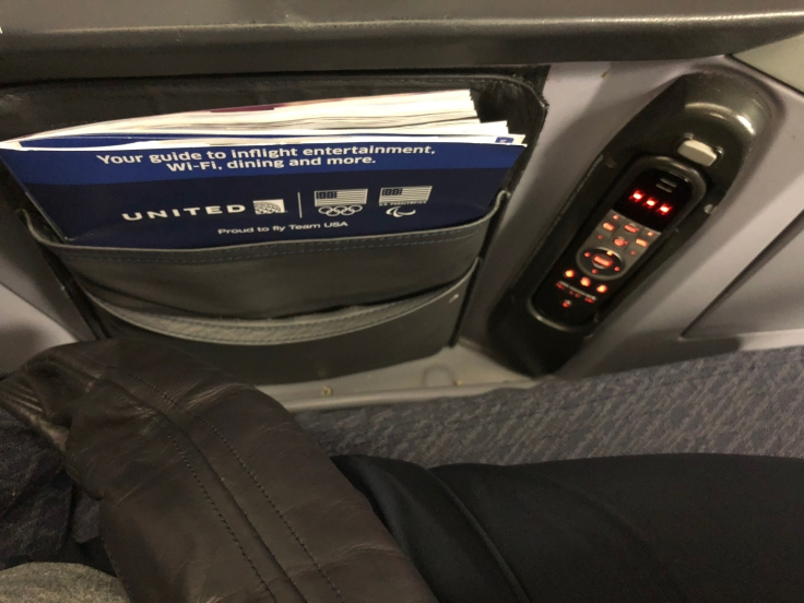 united airlines polaris business diamond hard seat literature pocket