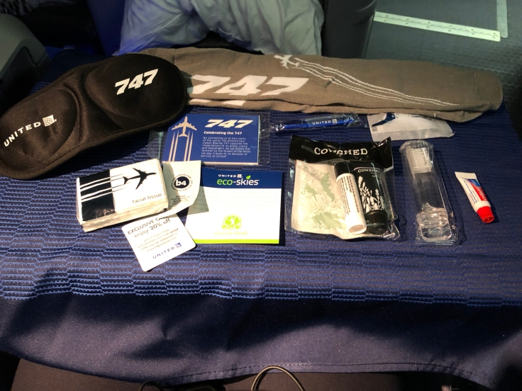 united airlines polaris business diamond soft amenity kit contents