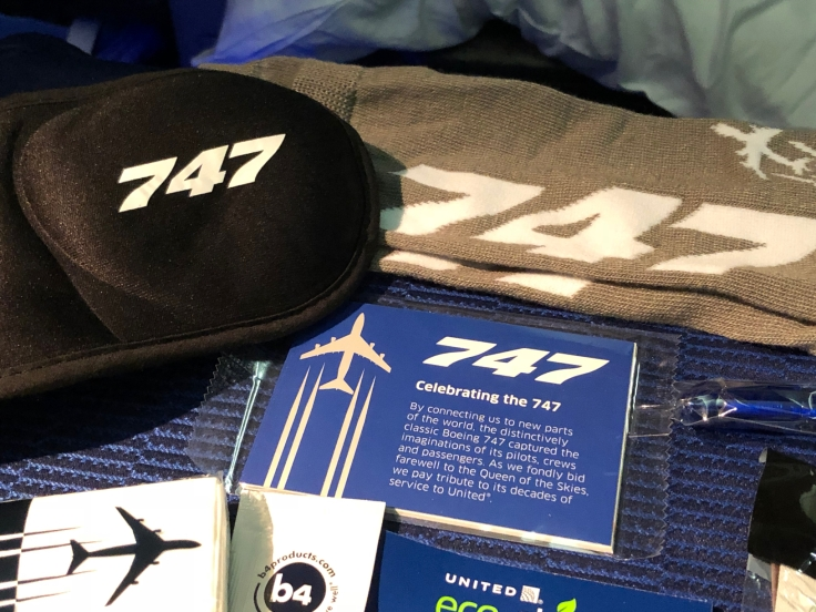 united airlines polaris business diamond soft amentity kit 747 swag