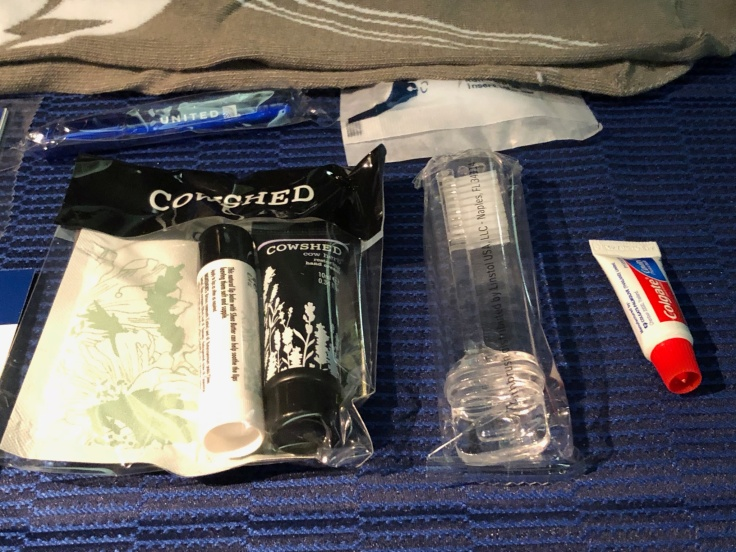united airlines polaris business diamond soft amentity kit cowshed