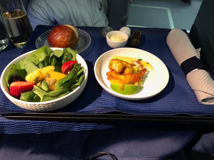 united airlines polaris business diamond soft dining appetizer