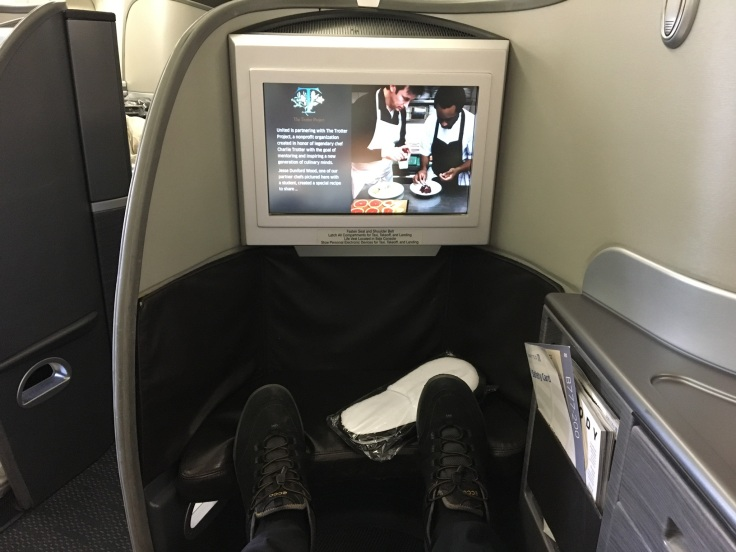united polaris first hard legroom