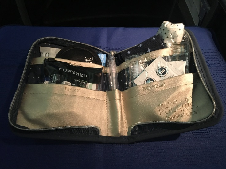 united polaris first soft amenity kit contents
