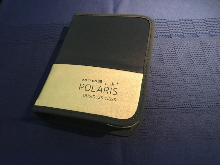 united polaris first soft amenity kit unwrapped