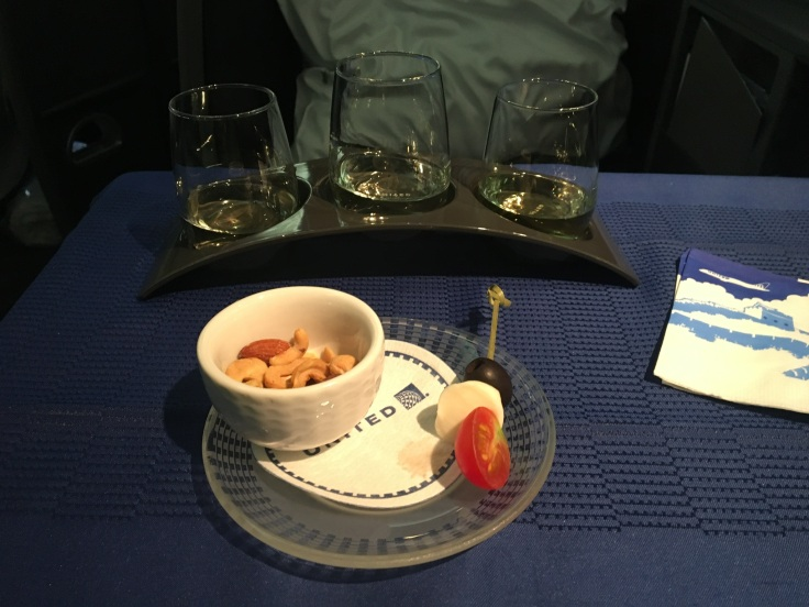 united polaris first soft amuse bouche